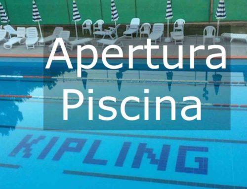 Riapertura Piscina Estate 2021